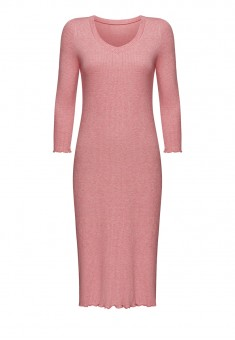 Textured Jersey Night Dress pink melange