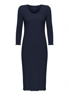 Textured Jersey Night Dress blue