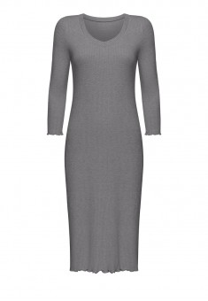 Textured Jersey Night Dress grey melange