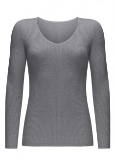 Textured Jersey Jumper grey melange