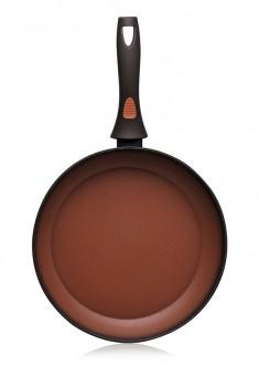 Сковорода с антипригарным покрытием цвет терракотовый 20 см