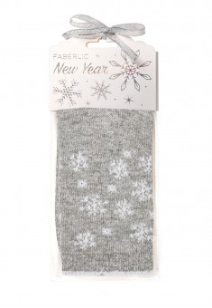 Snowflakes Wool Socks in gift packaging grey