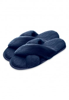Fluffy Slippers blue