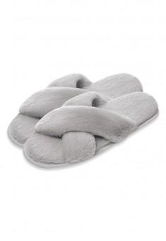 Fluffy Slippers grey