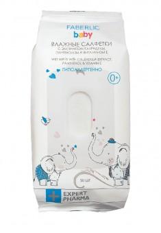 Детские влажные салфетки с экстрактом календулы пантенолом и витамином Е