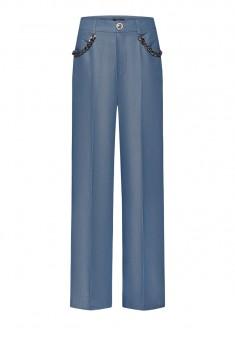 Широкие брюки с декоративной цепочкой