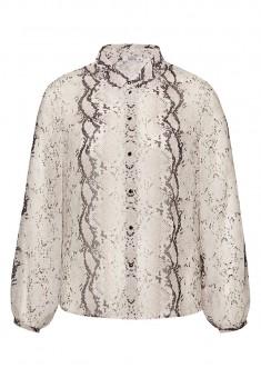Блузка с анималистичным принтом