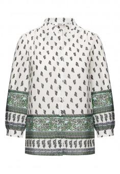 Блузка с багетным принтом