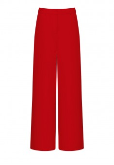 Широкие брюки цвет красный