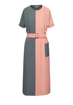 Bicolored Assymetric Dress