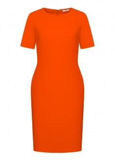 Рокля от креп цвят оранжев
