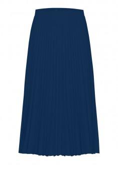 Плисирана пола цвят син
