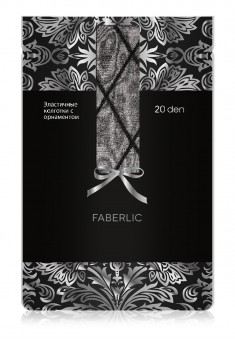 Patterned Tights SF204 20 den black