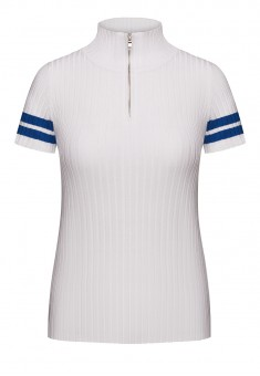 Womens Short Sleeve Jumper white