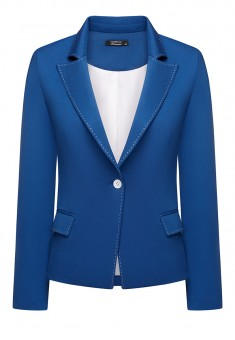 Womens Jersey Jacket blue