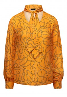 Womens Long Sleeve Blouse orange