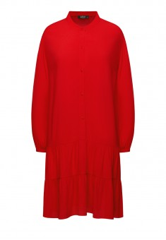 Womens Long Sleeve Dress red
