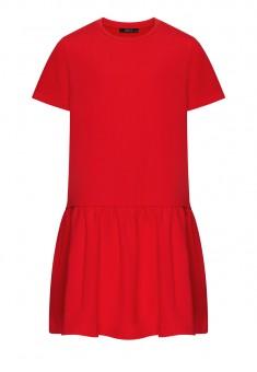 Girls Short Sleeve Jersey Dress red