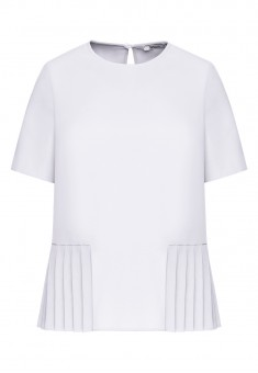 Блузка с плиссировкой цвет белый