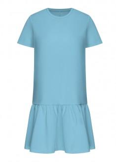 Трикотажное платье цвет голубой