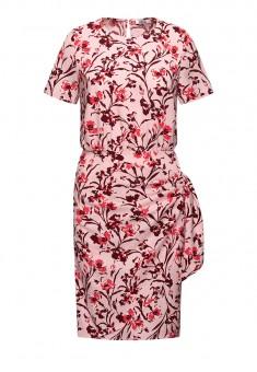 Платье с флоральным орнаментом мультицвет