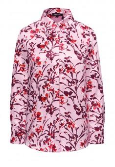 Блузка с флоральным орнаментом мультицвет