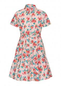 Платье с флоральным принтом для девочки мультицвет