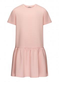 Платье из футера для девочки цвет розовый