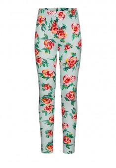 Легинсы с флоральным орнаментом для девочки мультицвет