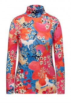 Womens High Neck Jumper multicolor