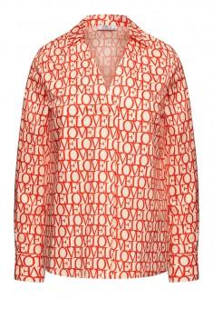 Блузка с принтом мультицвет