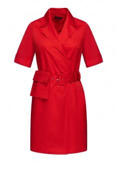 Платье с накладным карманом цвет красный