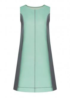 Платье из неопрена цвет бирюзовый