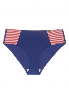 Sherry High Waist Swimming Slip Briefs redblue