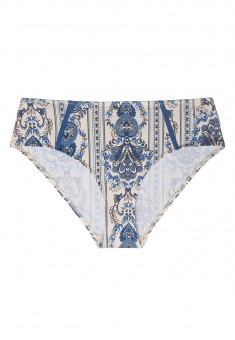 Terra High Waist Swimming Slip Briefs whiteblue