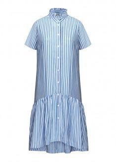 Платье в полоску цвет светлоголубой