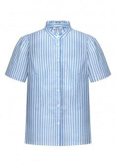 Womens Short Sleeve Blouse light blue