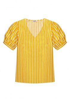 Womens Short Sleeve Blouse yellow