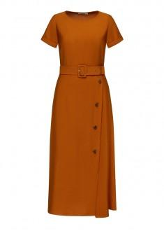 Womens Short Sleeve Dress brown