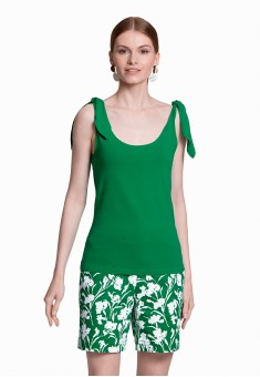 Jersey Tie Top green