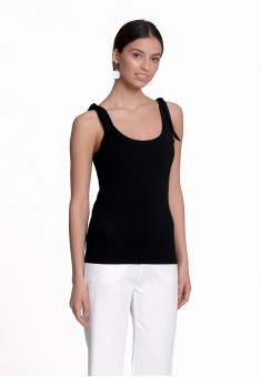 Jersey Tie Top black