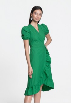 Wrap Dress green