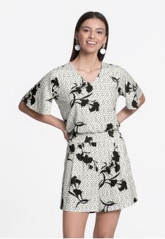 Floral Jersey Jumpsuit multicolor