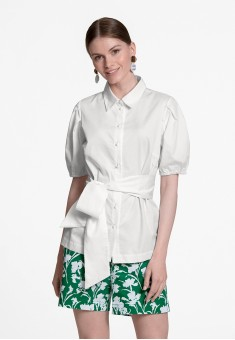 Belted Blouse white