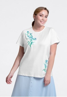 Embroidered Tshirt white