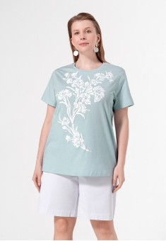 Printed Tshirt light blue