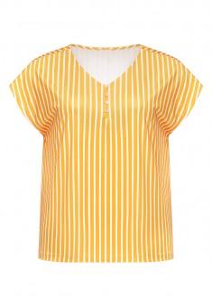 Трикотажная блузка в полоску цвет жёлтый