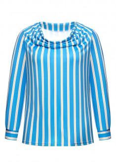 Трикотажная блузка в полоску мультицвет
