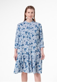 Floral Viscose Dress multicolor