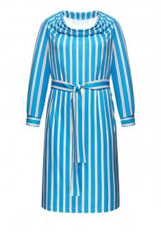 Womens Long Sleeve Jersey Dress multicolor